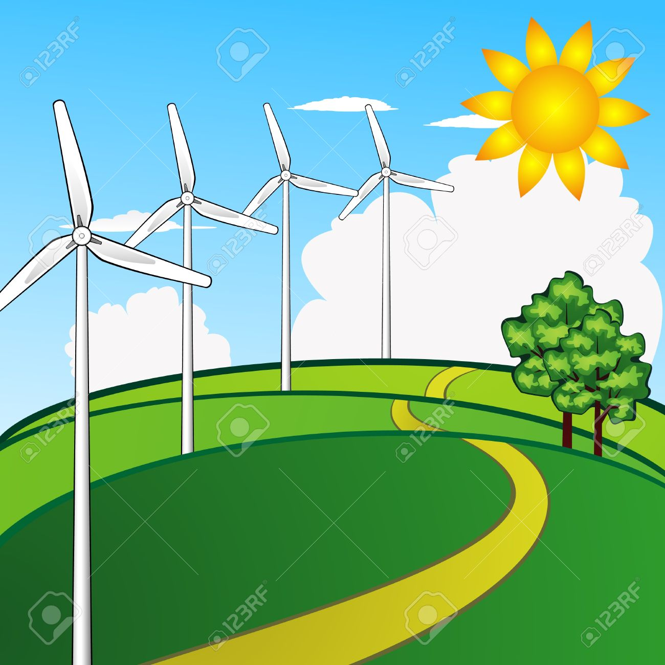 1300x1300 Wind Power Plant Clipart