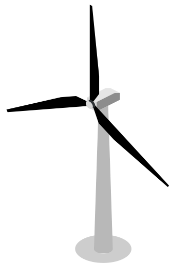 329x512 Wind, Turbine, Wind Turbine Icon