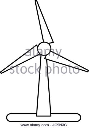 300x433 Wind Turbine Icon, Eco Concept Stock Vector Art Amp Illustration