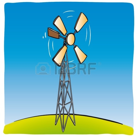 450x450 Old Wind Turbine Royalty Free Cliparts, Vectors, And Stock