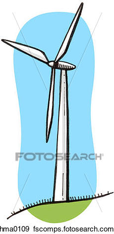 230x470 Stock Illustration Of An Illustration Of A Wind Turbine Hma0109