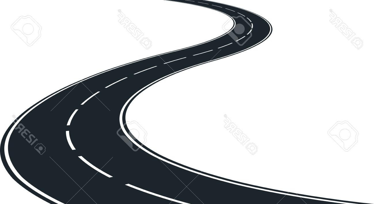 1300x710 Best Hd Isolated Winding Road Clip Art Illustration Stock Vector