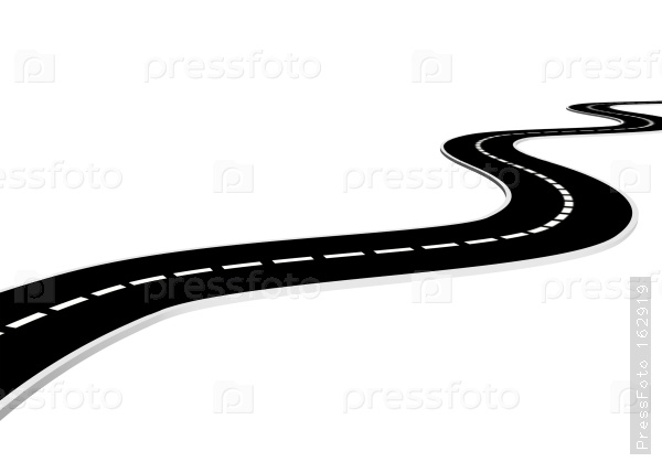 600x419 Way Clipart Curve Road