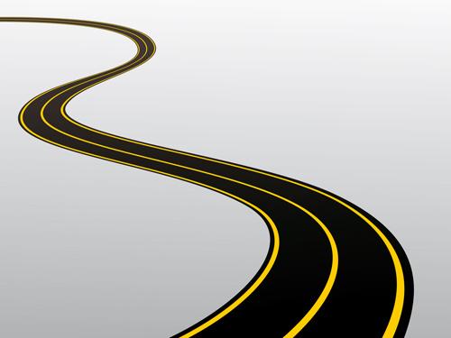 500x375 Winding Road Clip Art