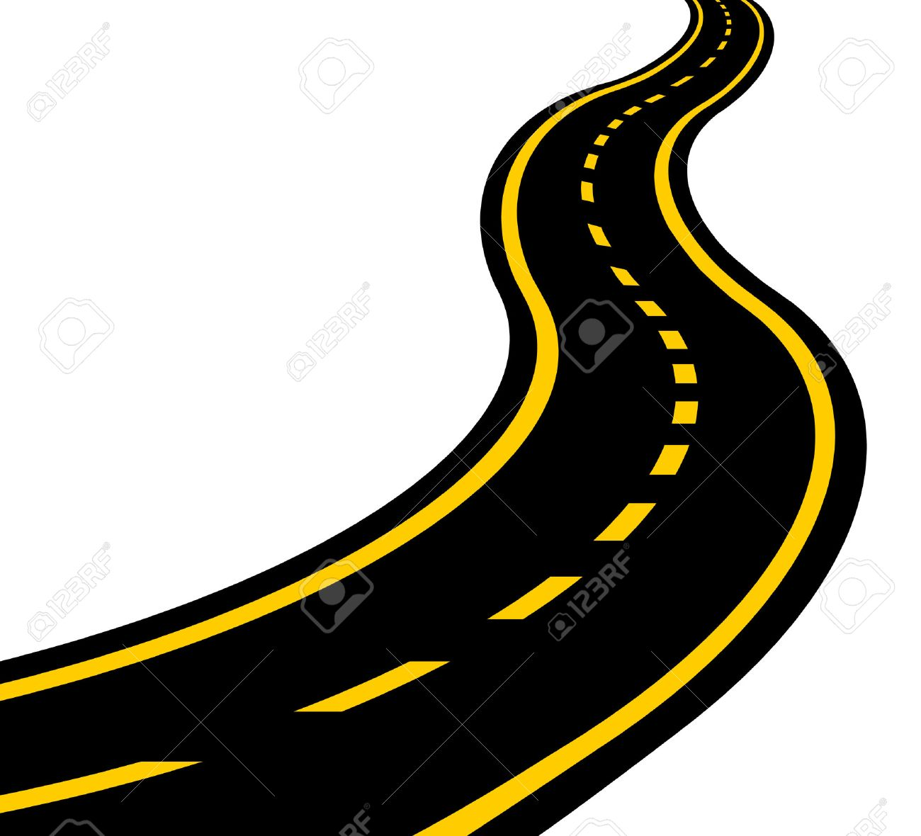 1300x1180 Winding Road Vector Eps 10 Royalty Free Cliparts, Vectors,