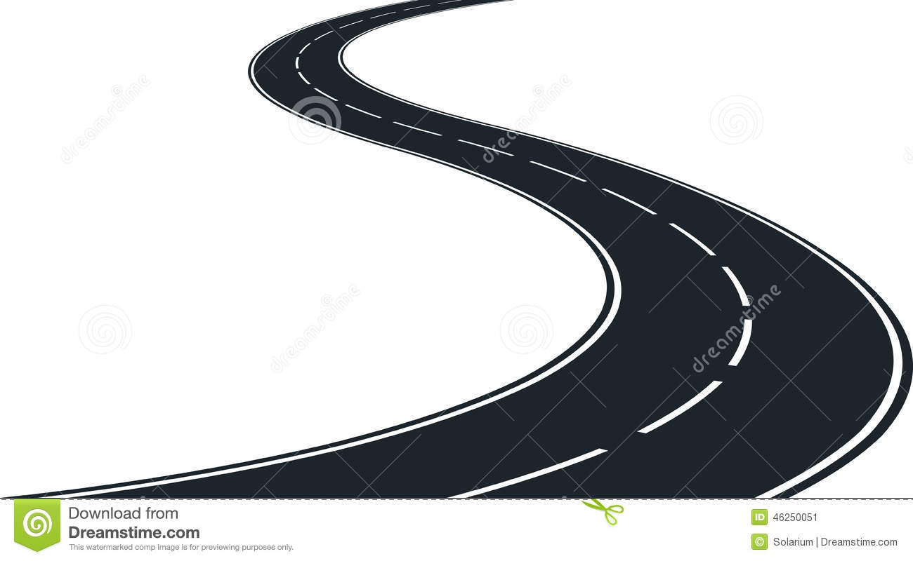 1300x800 Curve Clipart Windy Road