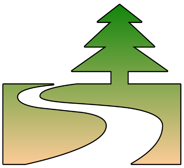 600x550 Footprint Clipart Winding Path