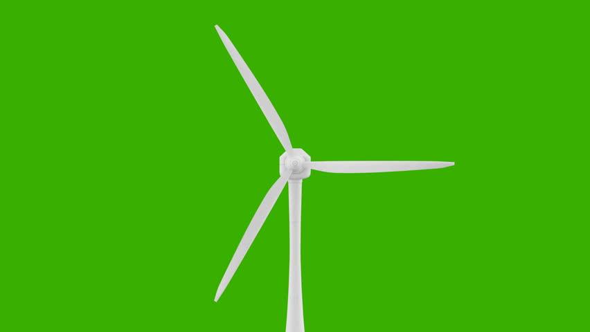 852x480 Loop Of Wind Turbines, Windmill, Energy. Wind Power Technology