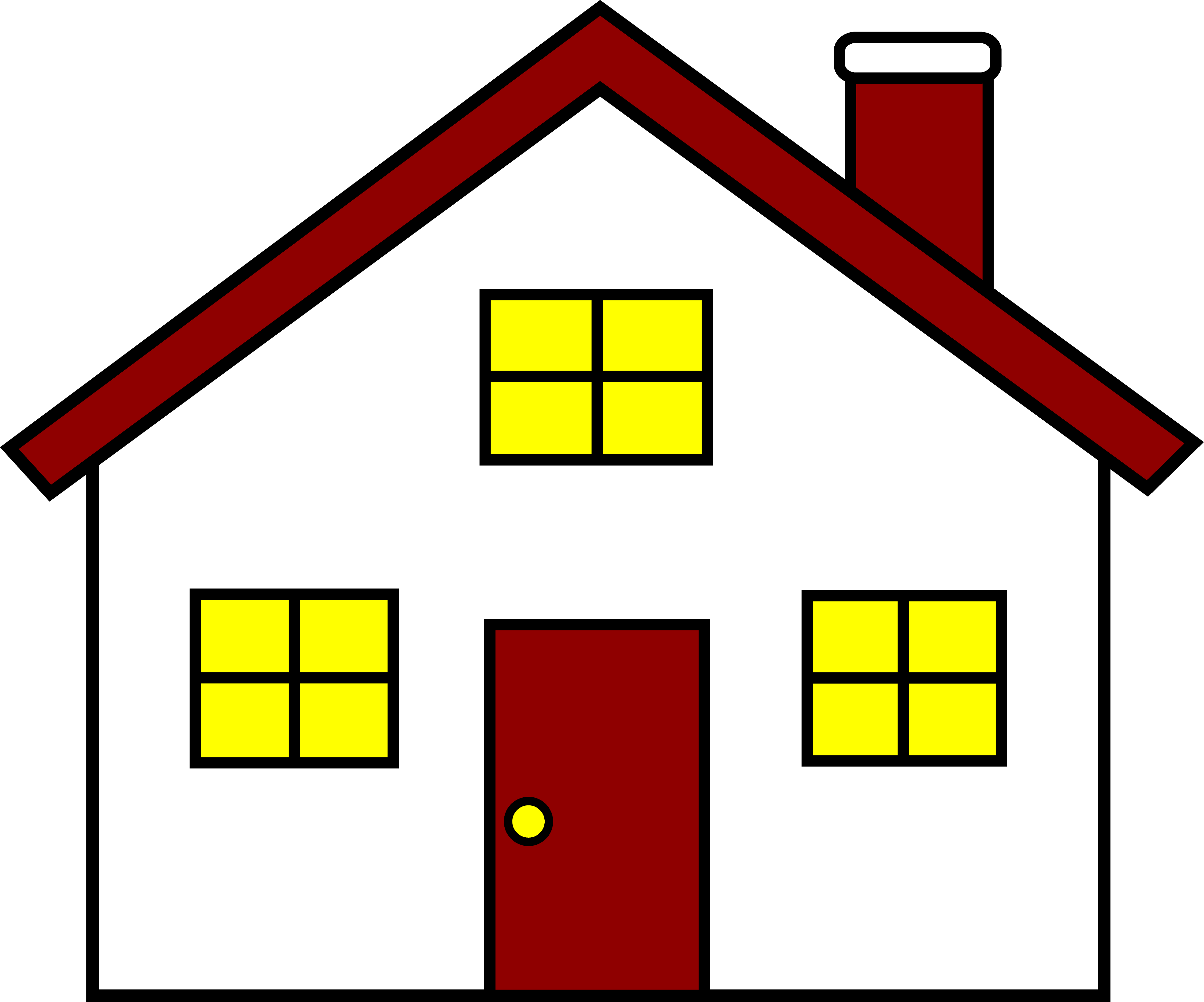 3583x2982 House Window Clipart Free Clipart Images