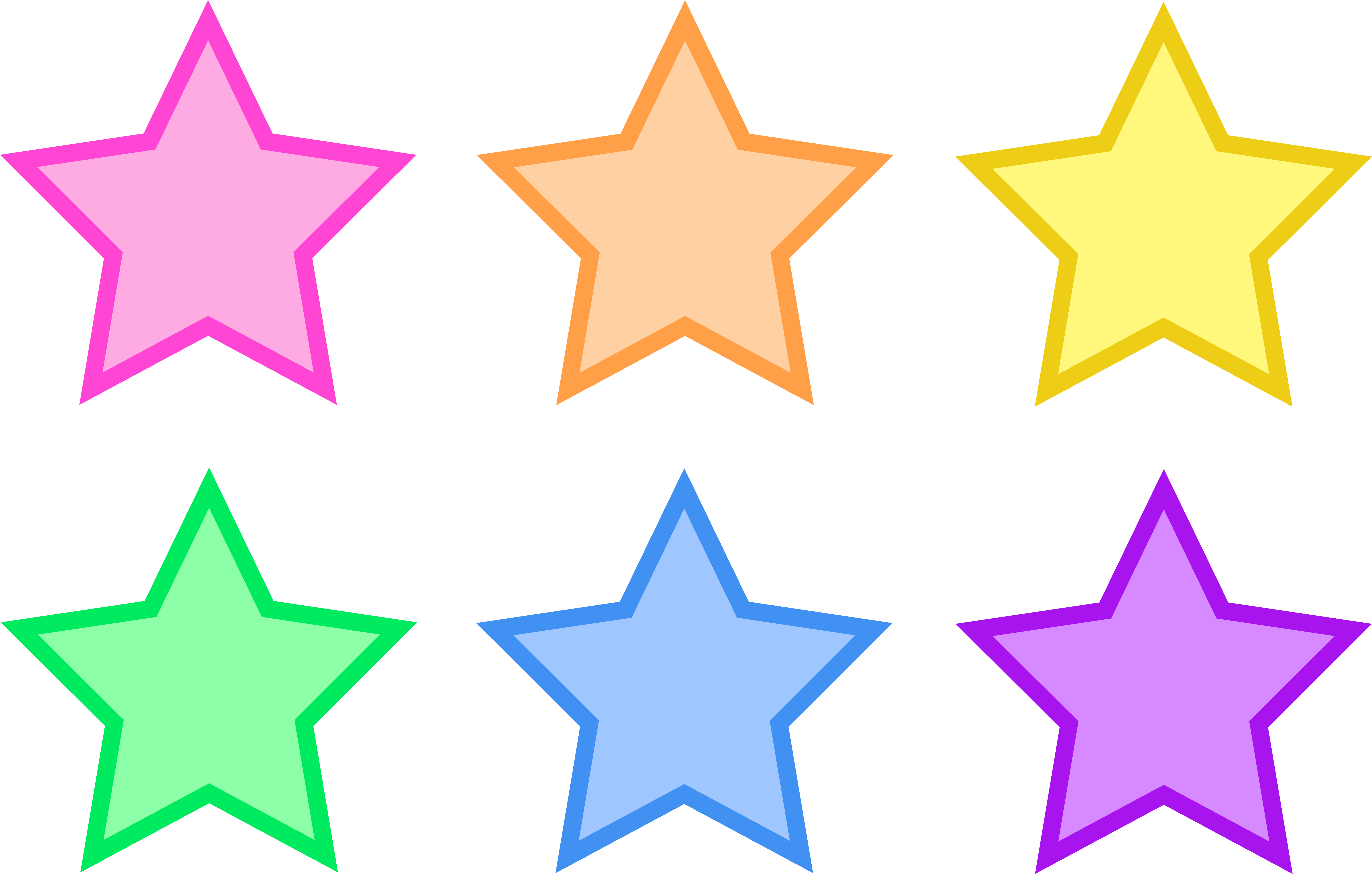 6530x4161 Set Of Six Pastel Stars
