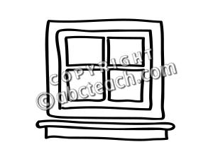 300x225 Window Black And White Clipart Panda