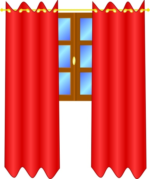 498x596 Window With Draperies Clip Art Free Vector In Open Office Drawing