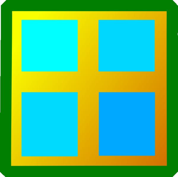 600x597 Clip Art Window Pane Clipart
