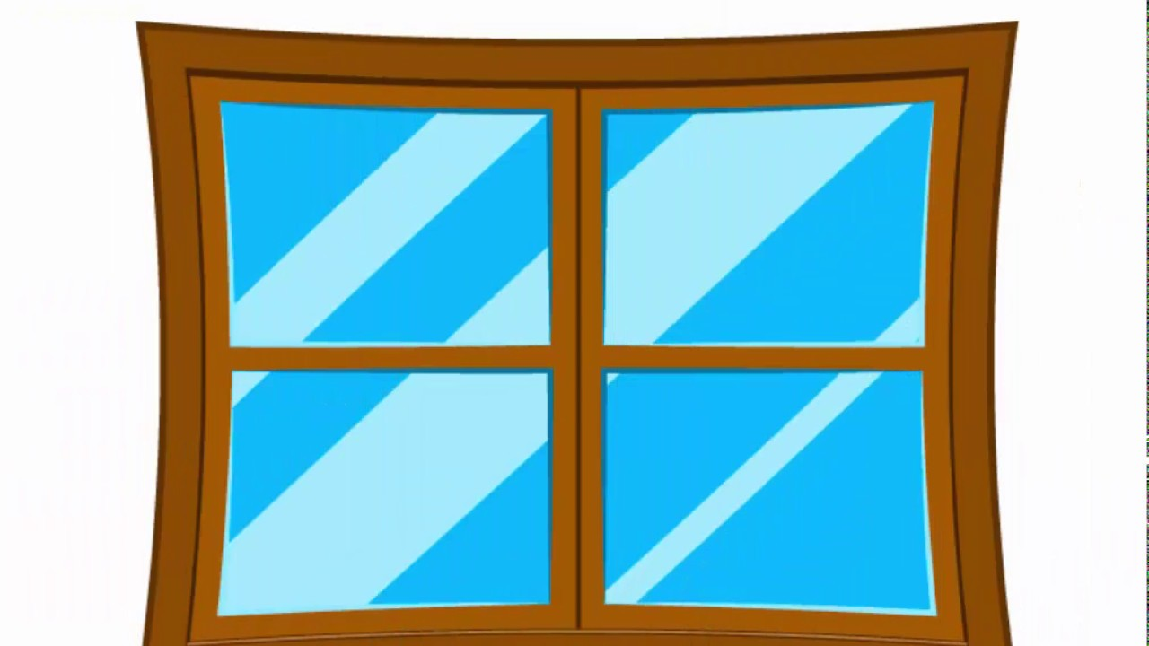Window Black And White Clipart |Window Pane Clipart
