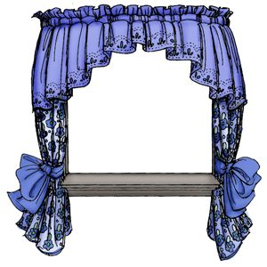 Window With Curtains Clipart