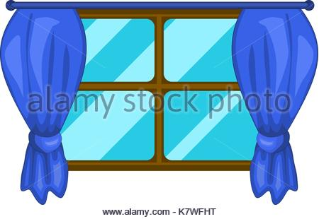 Window With Curtains Clipart Free download best Window With