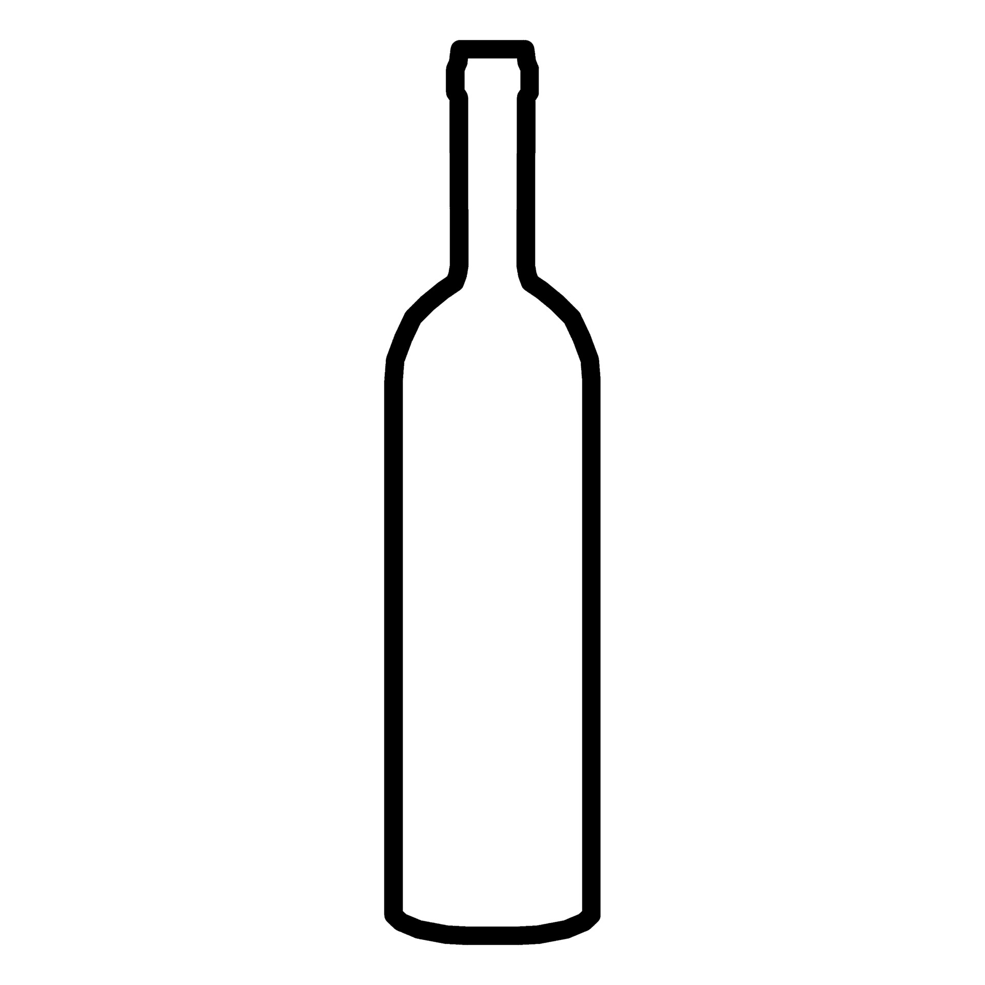 Wine Bottle Black And White | Free download best Wine ...