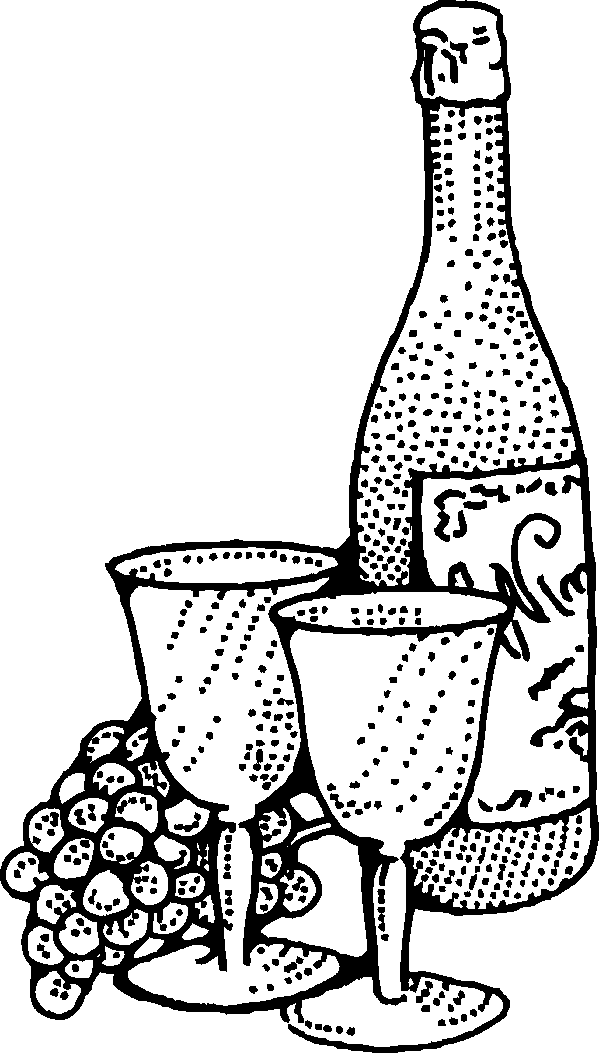 Wine Clipart Black And White