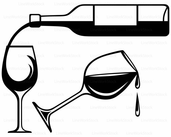 570x456 Wine Bottle Svg,drink Clipart,alcohol Svg,wine Silhouette,wine