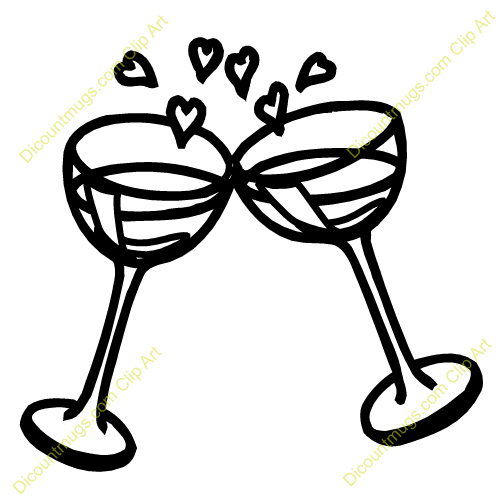 500x500 Clipart Champagne Glasses Toasting Amp Clip Art Champagne Glasses