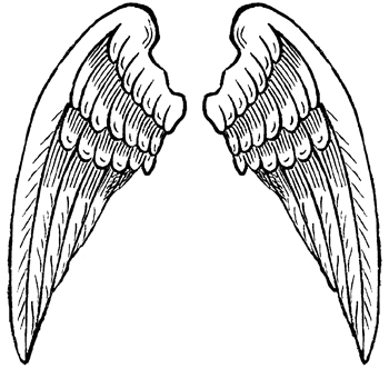 350x331 Gallery For Cross With Angel Wings Clip Art Image