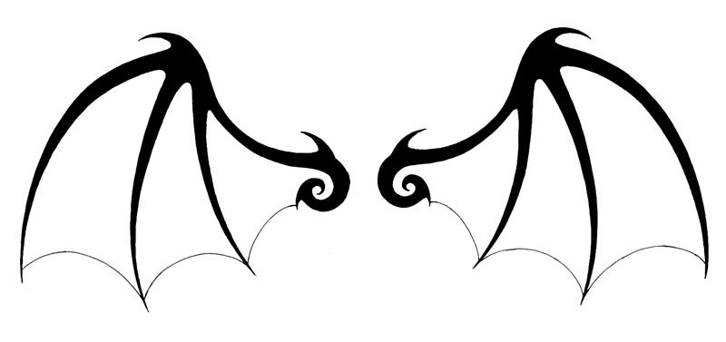 800x377 Bat Wings Clipart