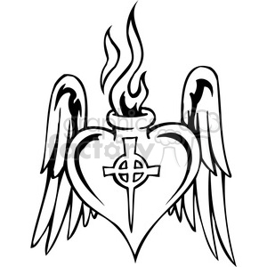 300x300 Royalty Free Christian Religion Heart Wings 098 386032 Vector Clip