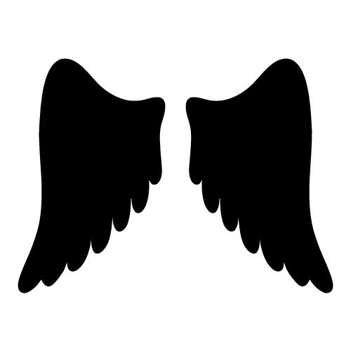 500x500 Angel Wings Clip Art