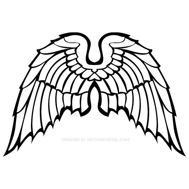 660x660 Wings Clip Art 5 Free Vector 123freevectors