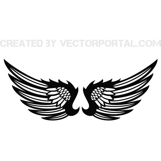 660x660 Wings Clip Art Stock Free Vector 123freevectors