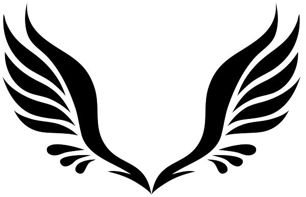 600x386 Wings Clipart Simple