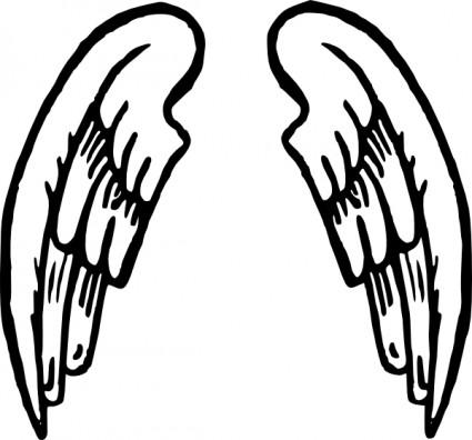 425x396 Angel Wings Tattoo Clip Art Free Vectors Ui Download