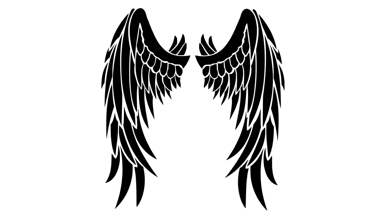 1280x720 Black Wings Clipart Transparent Png