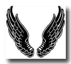234x211 Black Wings Clipart