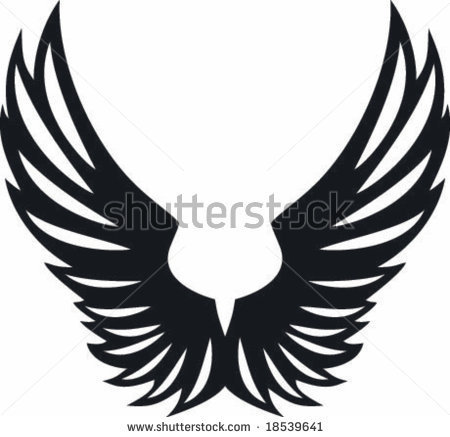 450x437 Vectorial Big Spread Eagle Two Wings Design By Queen Soft, Via