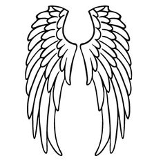 236x236 Angel Wings Outline How To Draw Angel Wings Quickly In Few Easy