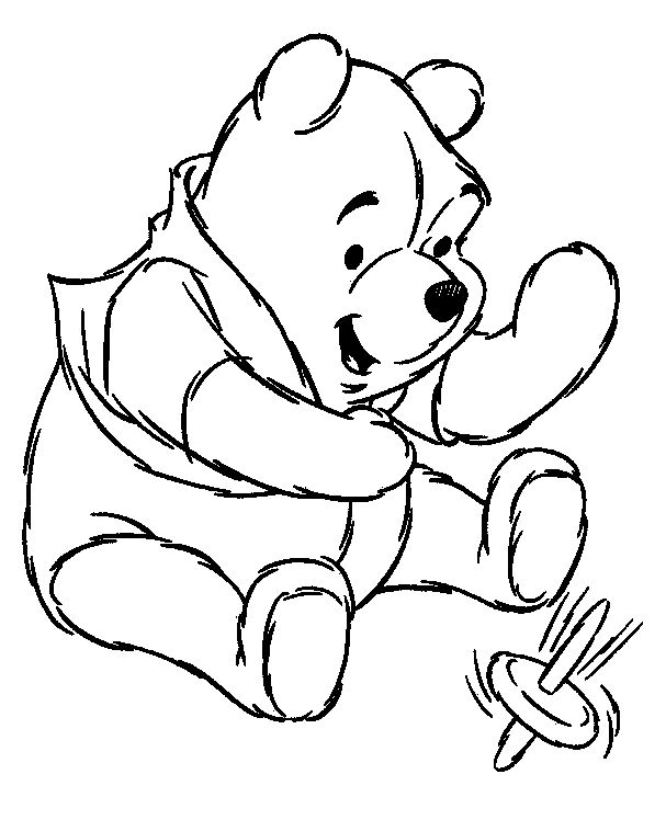 Winnie The Pooh Clipart Black And White