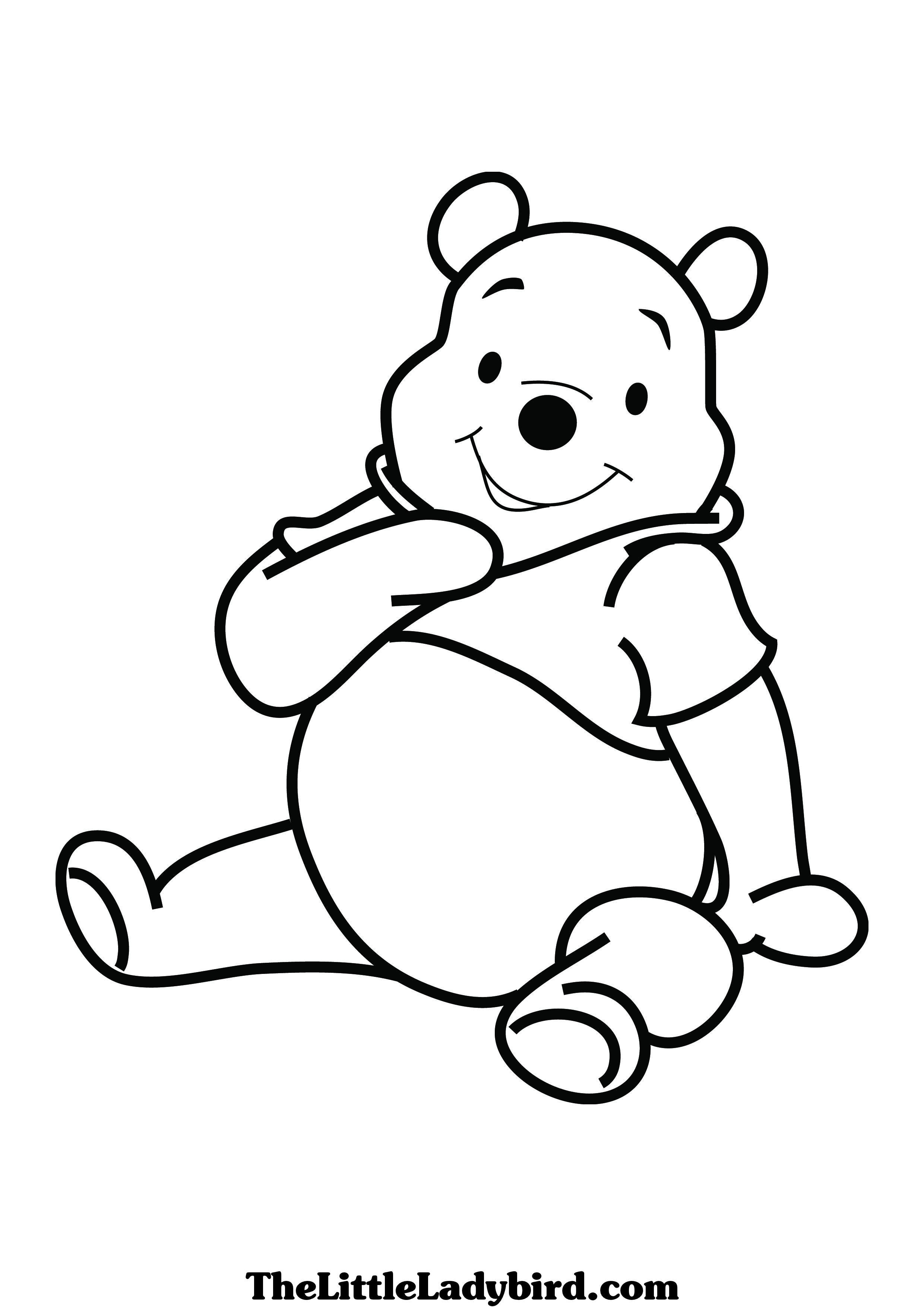 Images Of Pooh Bear Coloring Pages