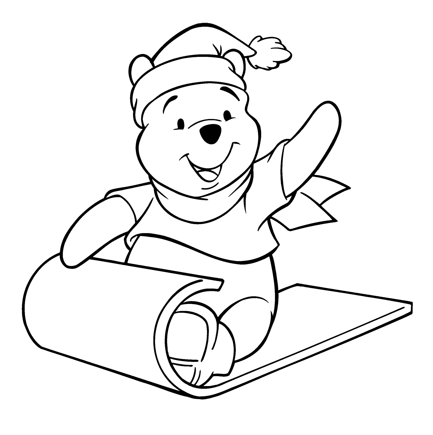 1500x1506 The Pooh Christmas Coloring Pages