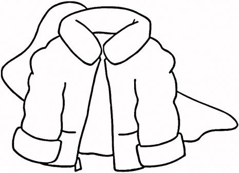 465x337 Clip Art Black And White Winter Coat Clipart