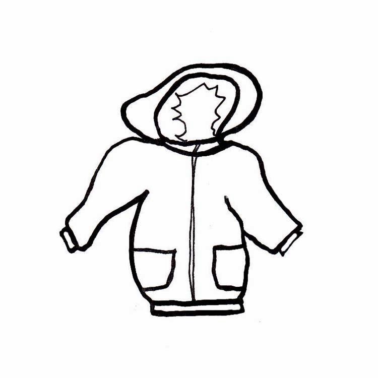 750x750 Clip Art Black And White Winter Coat Clipart
