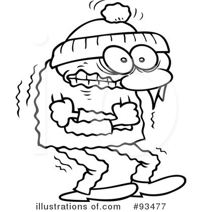 400x420 Cold clipart black and white
