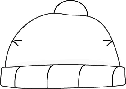 406x288 Winter hat clipart black and white free