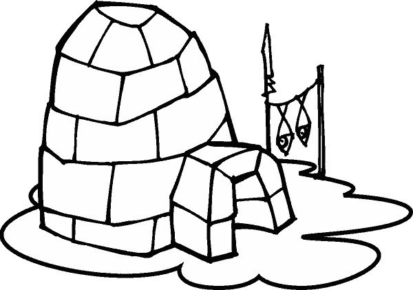 600x421 Winter igloo clipart, explore pictures