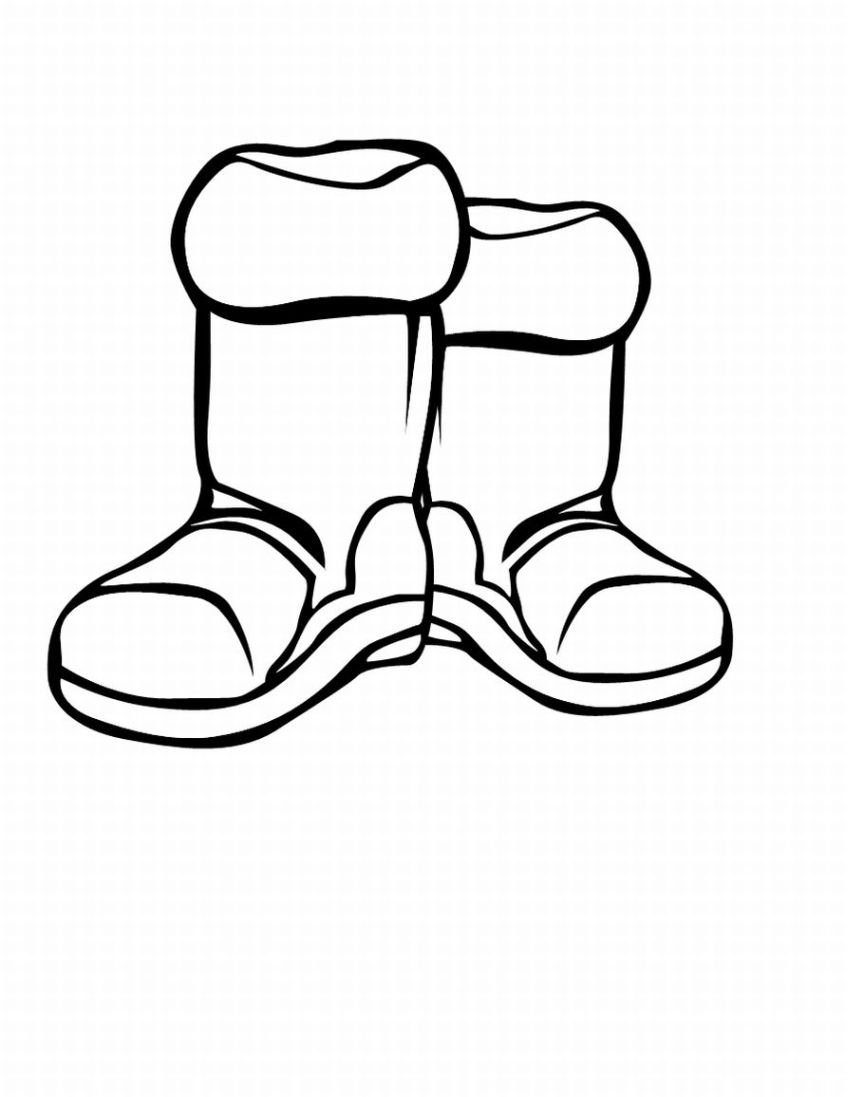 848x1097 Boots clipart black and white