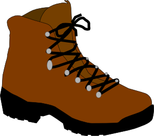 300x265 Hiking Boot Clip Art