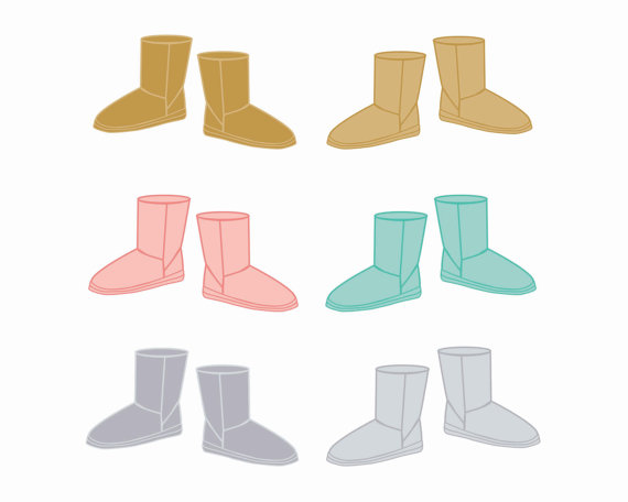 570x456 Winter Boots Clipart