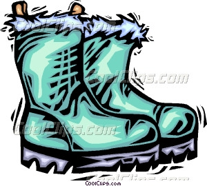 300x270 winter boots Vector Clip art