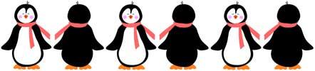 442x100 Winter Penguin Clip Art Border Clipart Panda