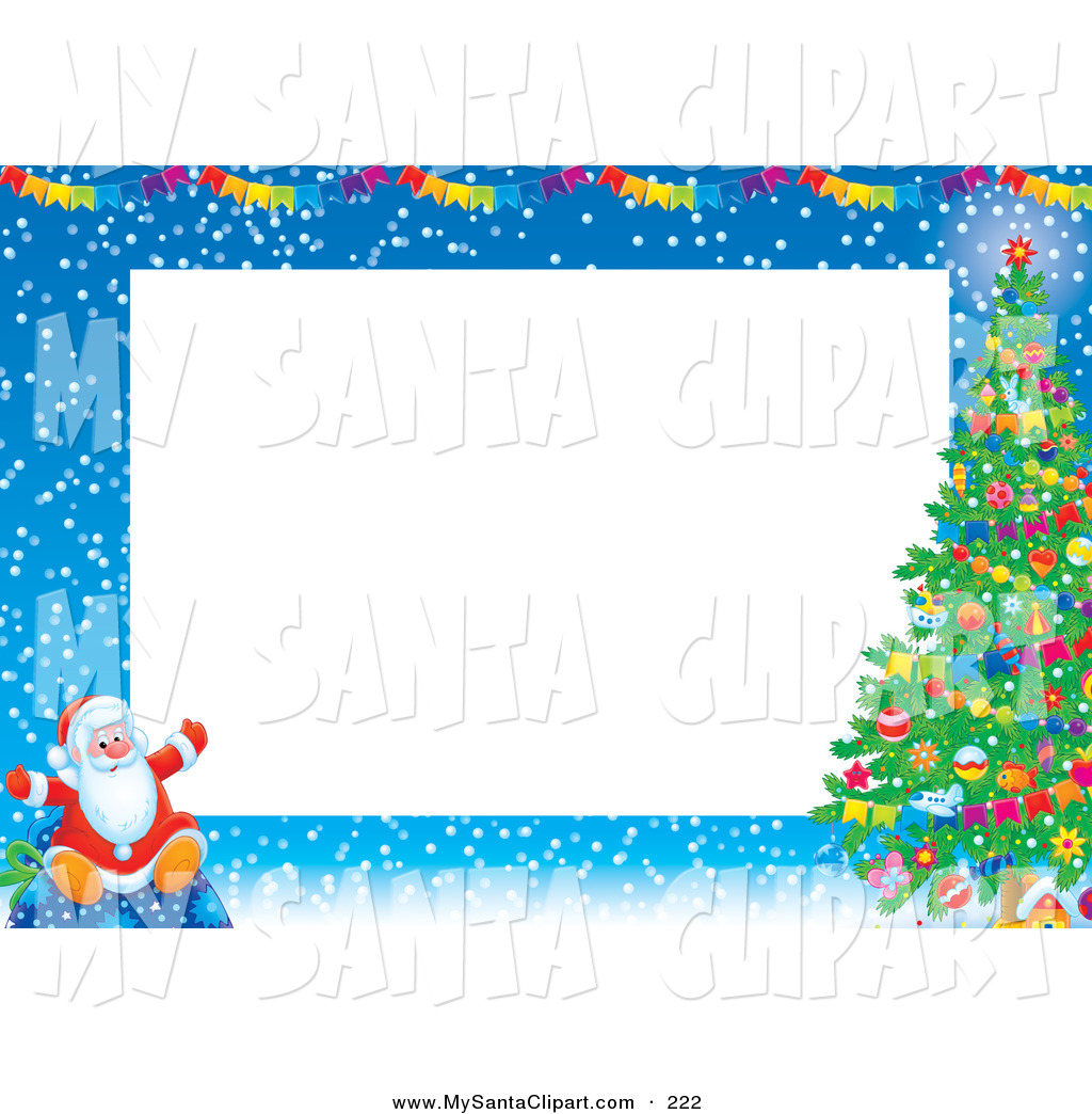 1024x1044 Winter Themed Santa Claus Border – Merry Christmas amp Happy New